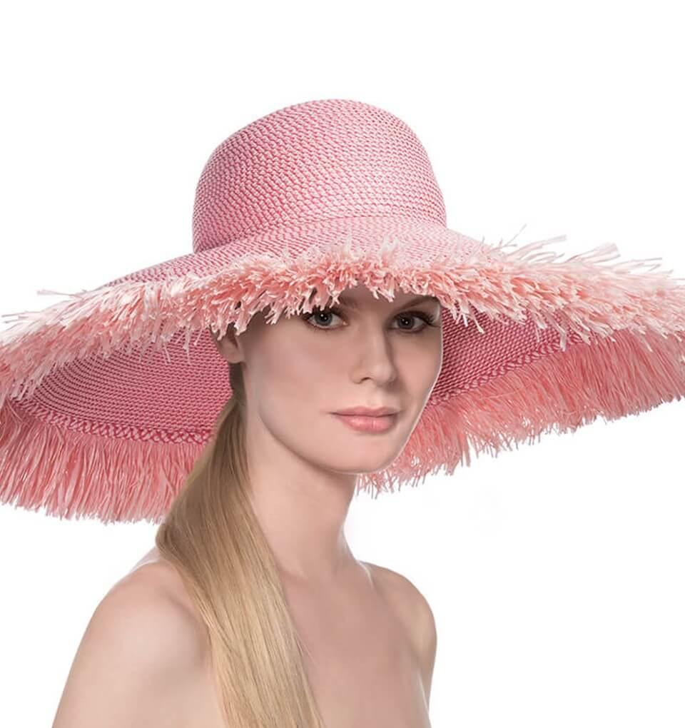 1d7a59f23 Eric Javits Luxury Fashion Designer Women's Headwear Hat - Floppy With  Fringe 0