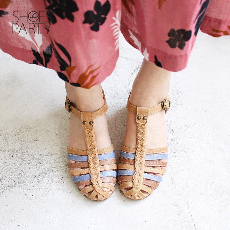 【S2-18513L】真皮手工編織楔型涼鞋_Shoes Party 2