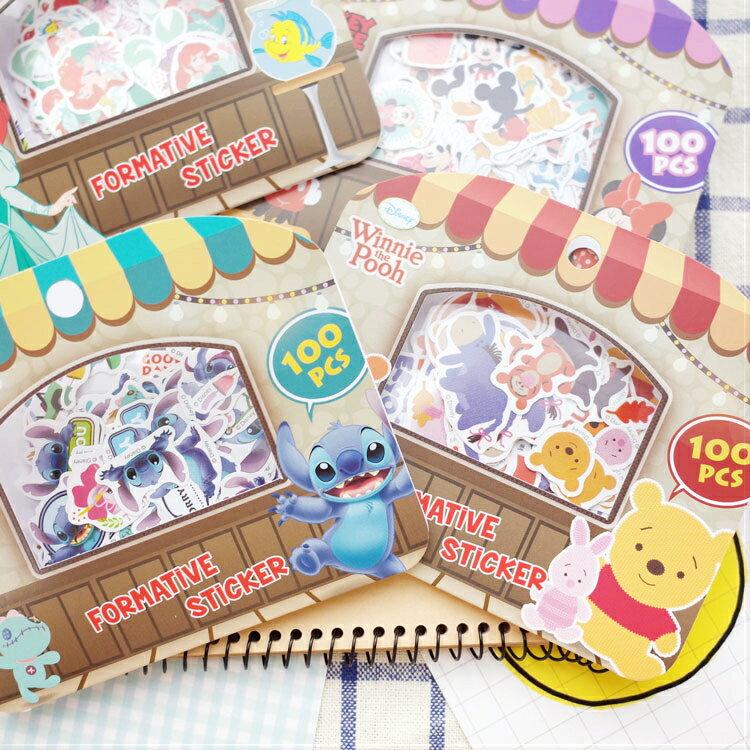PGS7 富士 拍立得 貼紙 - 迪士尼 貼紙包 (100張入) 米奇 米妮 維尼 史迪奇 愛麗兒 奇奇蒂蒂 【SHP7361】
