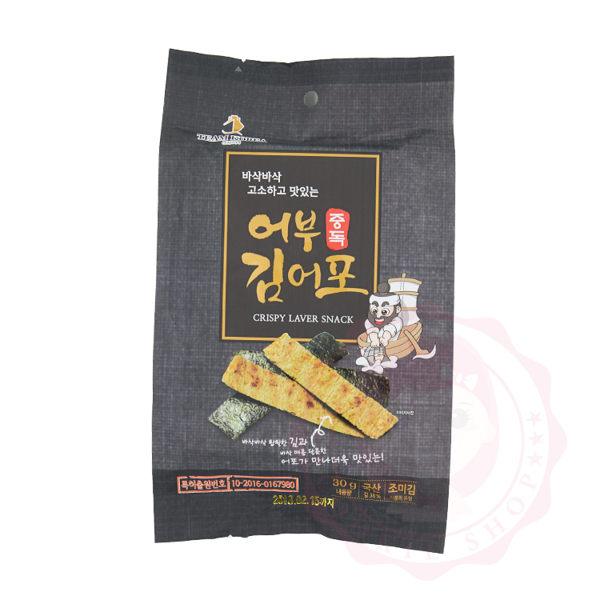 Team Korea 海苔魚脆片 辣味 30g ~庫奇小舖~
