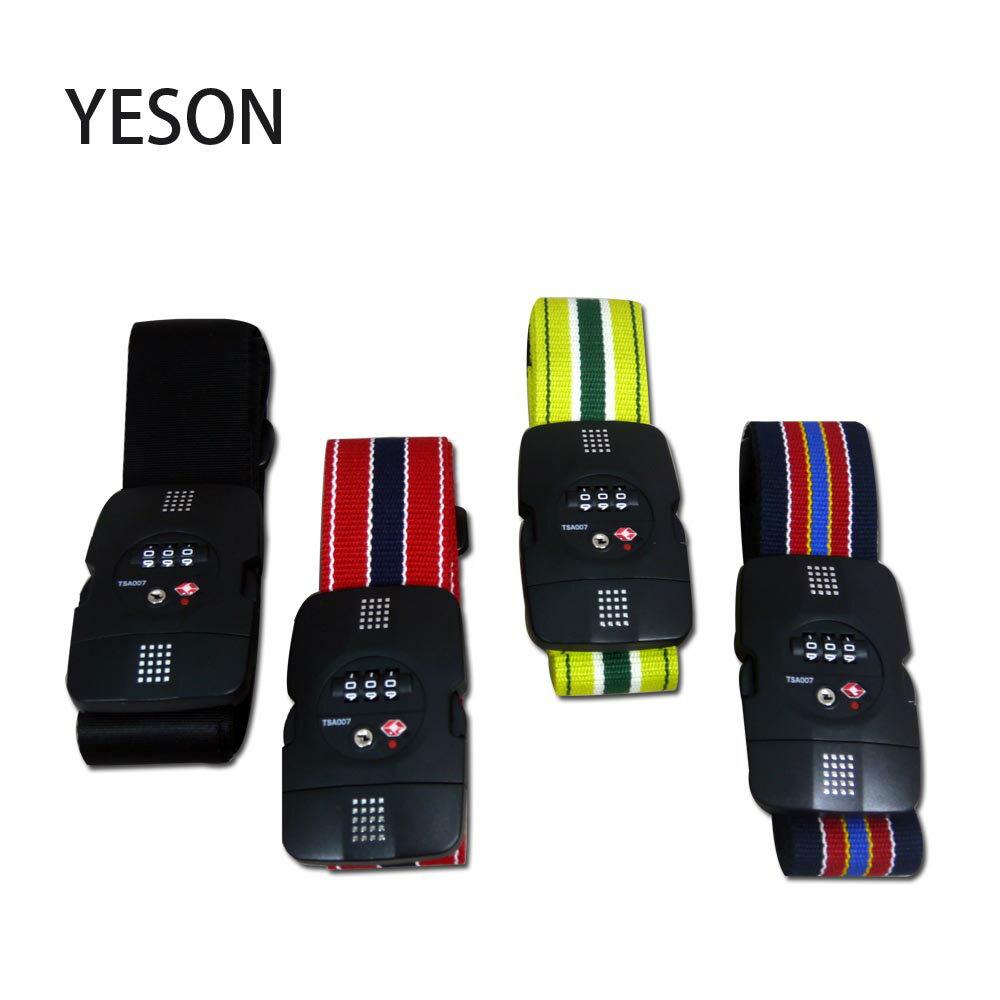 【加賀皮件】 永生 YESON MIT TSA海關密碼鎖 加長型 行李綁帶 束帶 913