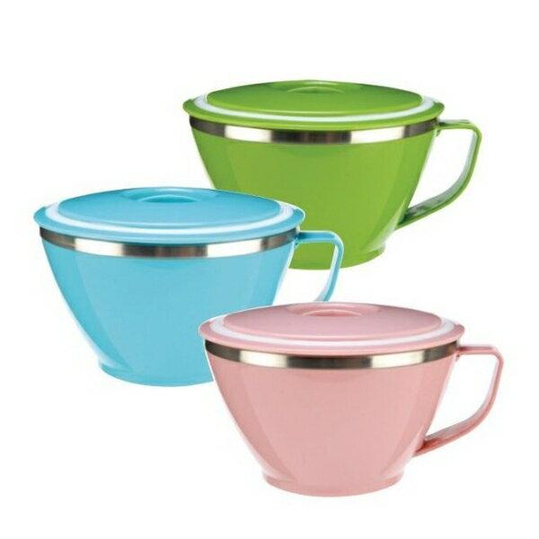 【晨光】牛頭牌 粉彩隔熱杯碗附蓋-3色 620ml (810140)