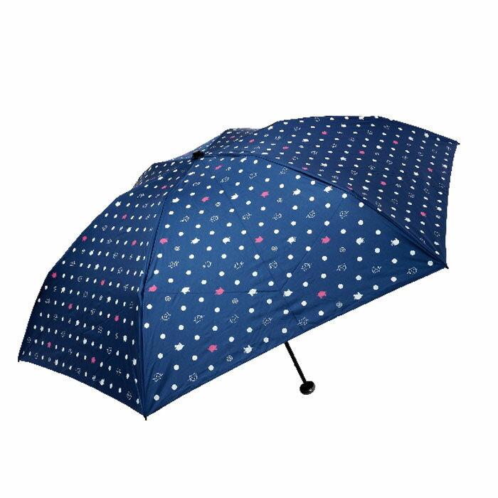 水玉點貓貓遮光布碳纖輕量傘
