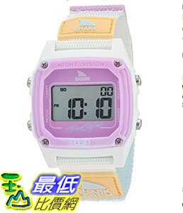 [106美國直購] Freestyle 手錶 'Shark' Quartz B01LY94KUW Plastic and Nylon Sport Watch, Color:White (Model: 10026835)