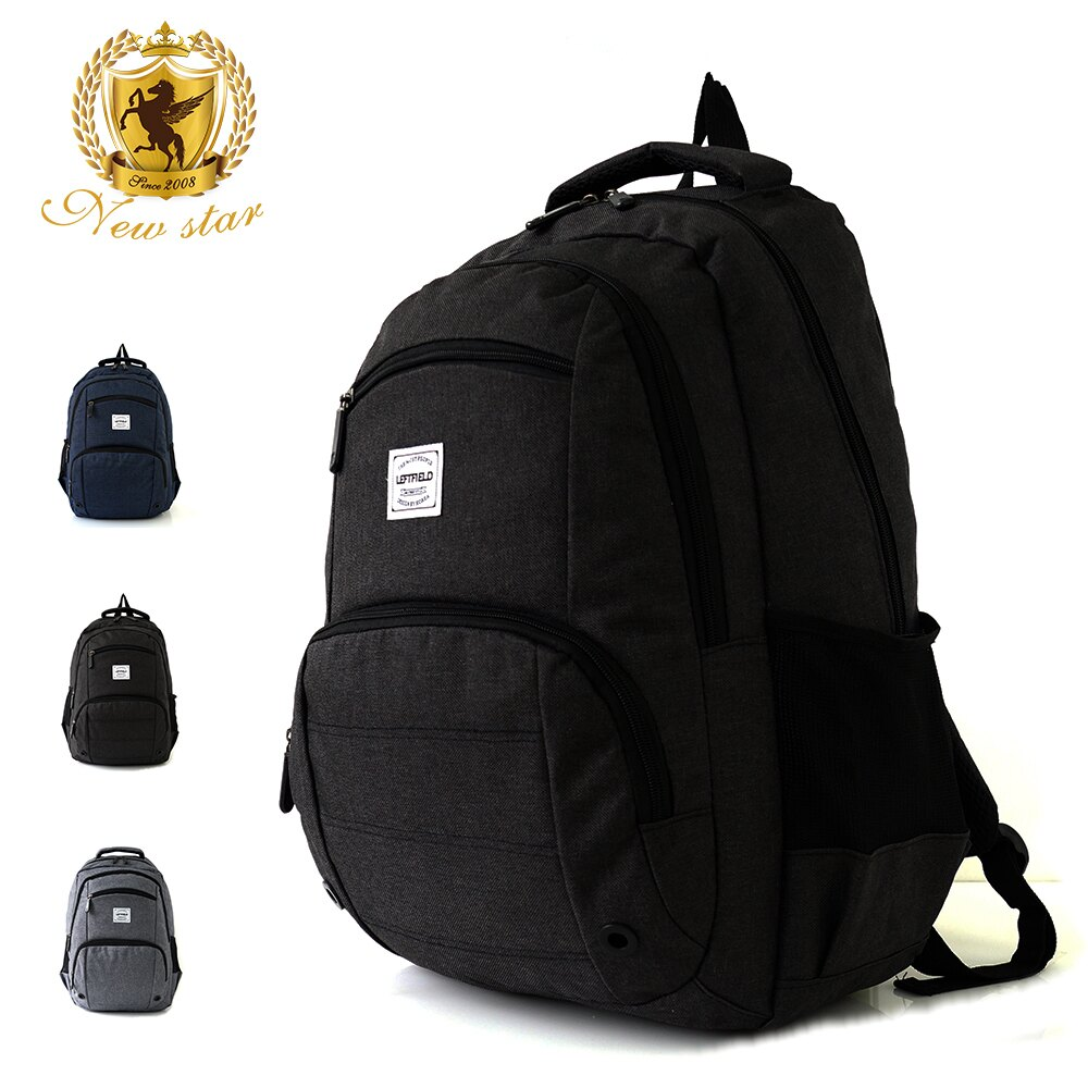 運動輕時尚防水雙層前口袋後背包包 NEW STAR BK237 2