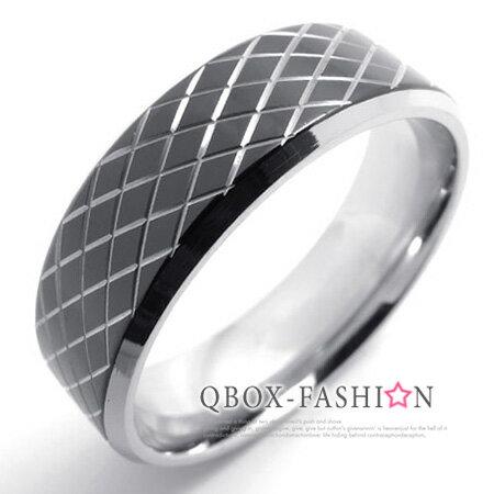 《 QBOX 》FASHION 飾品【W10019947】精緻個性黑色蛇紋造型316L鈦鋼戒指/戒環