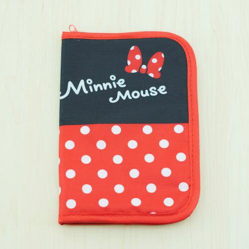 【迪士尼】米妮護照存摺收納套(拉鍊款)╭。☆║.Omo Omo go物趣.║☆。╮