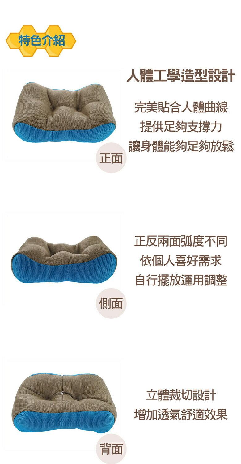 透氣多功能靠枕-顏色隨機出貨(42X24X10cm(±5%)) [大買家] 3