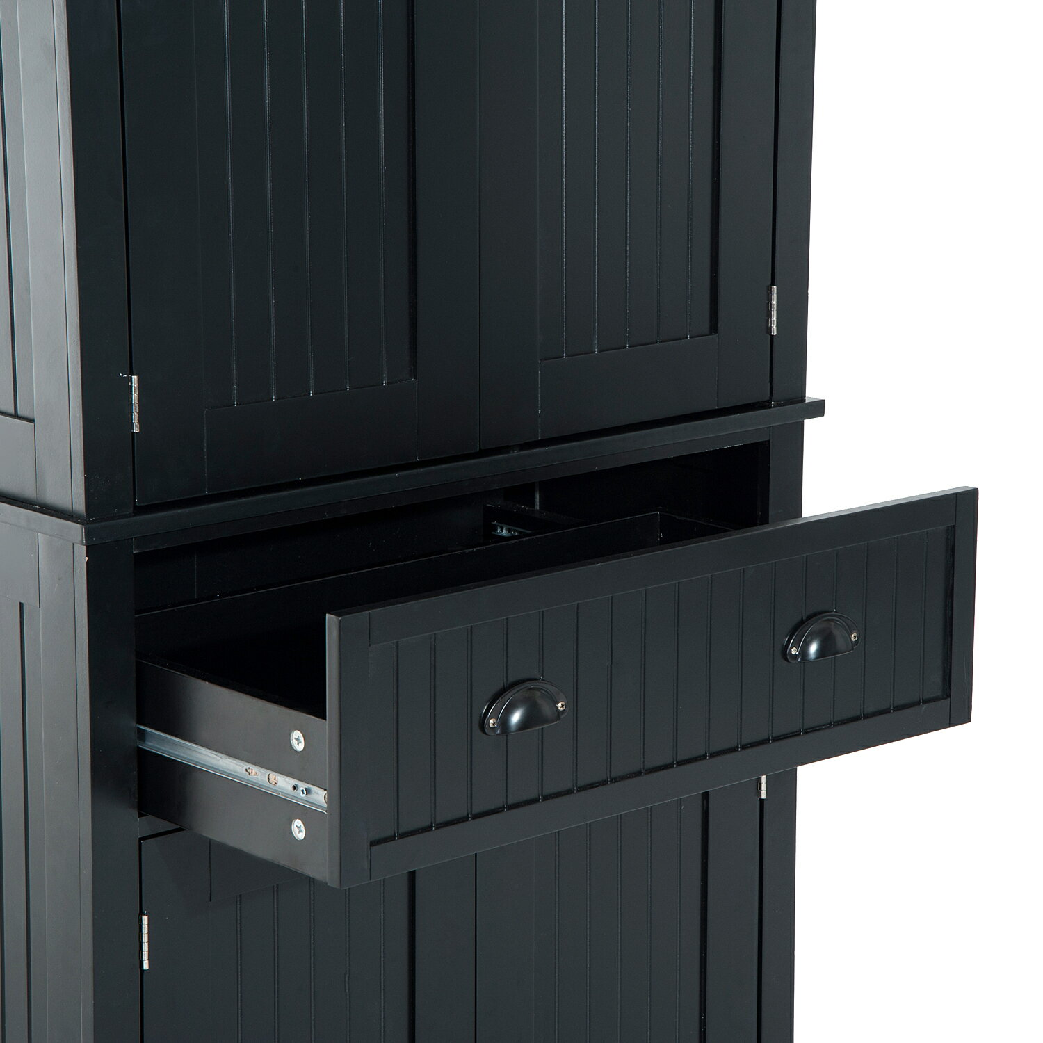 Free Standing Kitchen Pantry Cupboard: Aosom: HomCom Large Free Standing Colonial Wood Storage