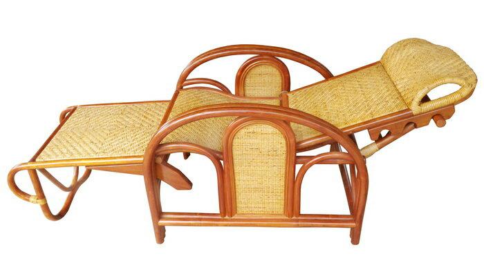 【MSL】金舒適三折休閒藤椅(加高型) 3