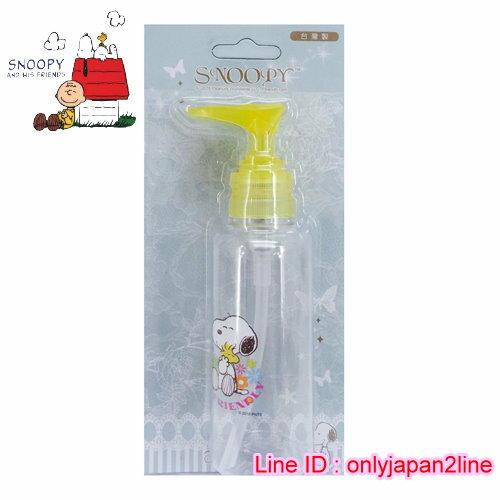 【真愛日本】16101900037擠壓瓶100ML-SN彩紅花    史努比 SNOOPY   擠壓瓶  旅用組