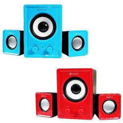 KINYO【音樂大師】魅力肆色USB 2.1立體擴大喇叭US-179