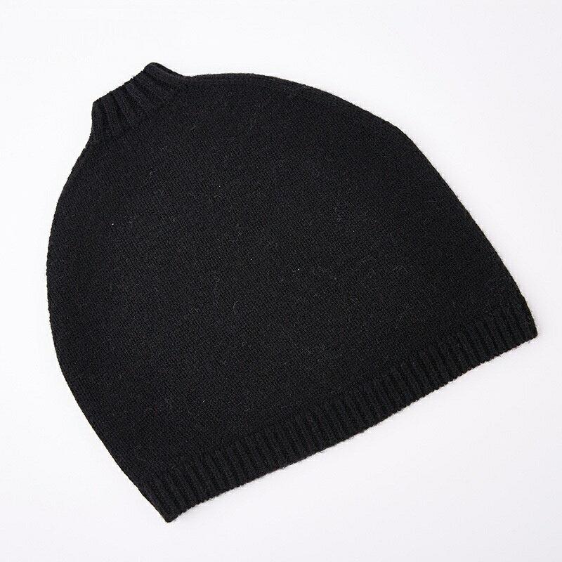 毛帽羊毛針織帽-純色捲邊護耳套頭男帽子4色73wj33【獨家進口】【米蘭精品】 1