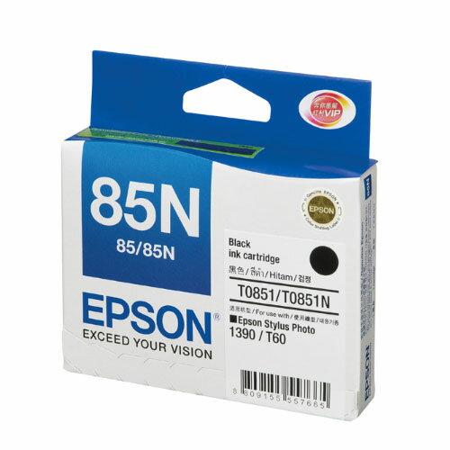 【EPSON 墨水匣】EPSON T122100 (NO.85N) 黑色墨水匣