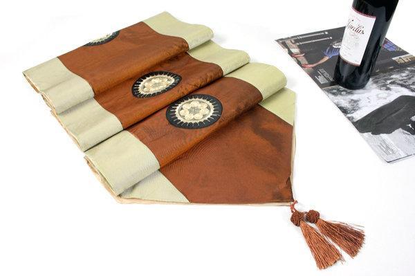 加寬床旗 桌旗 現代 中式 美容院家具店 裝飾床圍巾 加長條茶幾墊