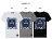 ☆BOY-2☆【PPK82106】短袖T恤韓休閒修身素面方框色塊W配色拼接碎花短T 2