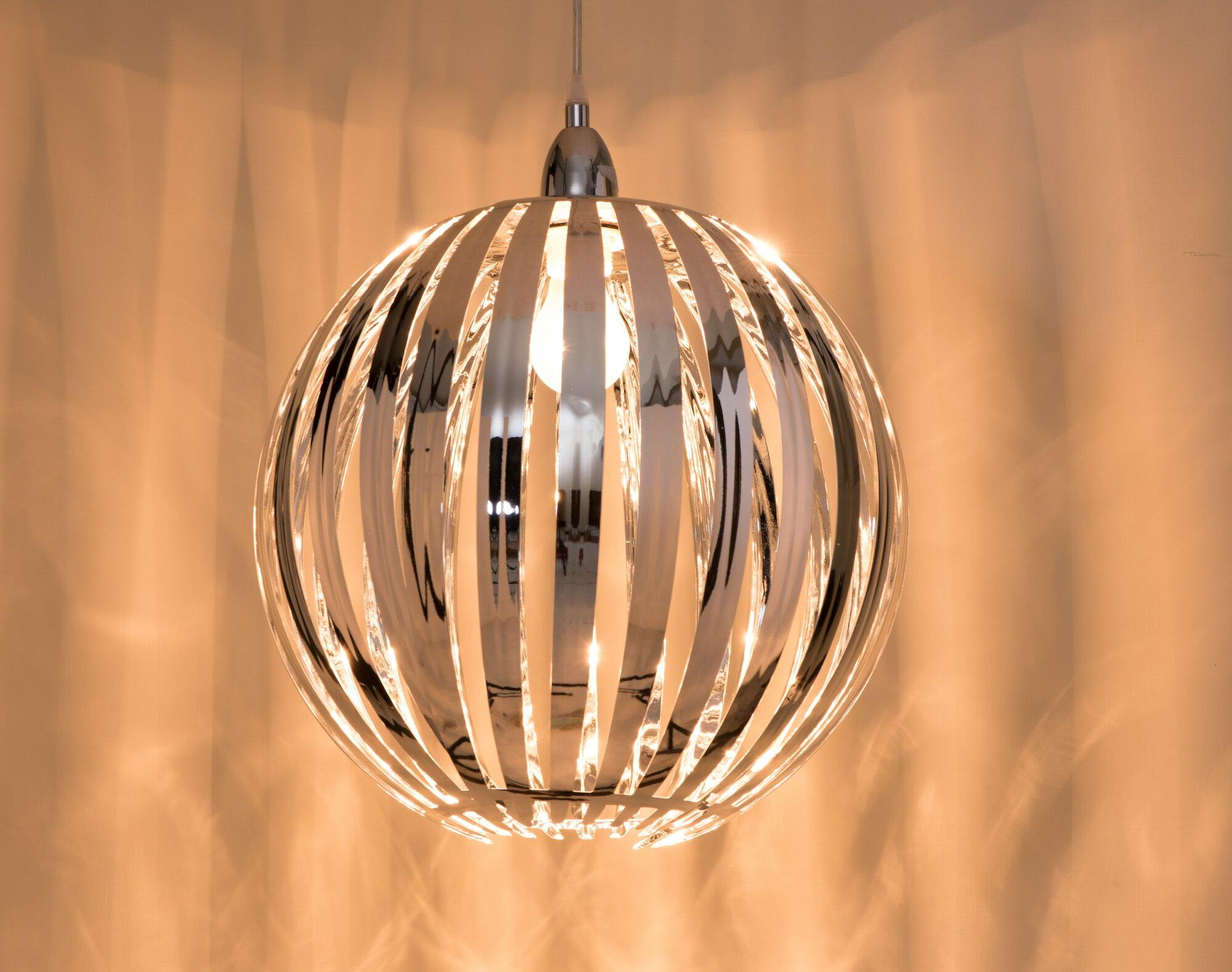 鍍鉻條圓形吊燈-BNL00054 2