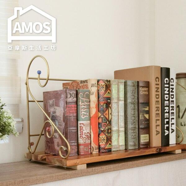 Amos 亞摩斯生活工坊:【TAA015】實木簡易書架Amos
