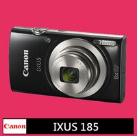 Canon佳能到6期0利率★Canon IXUS 185 數位相機 黑色★(公司貨)