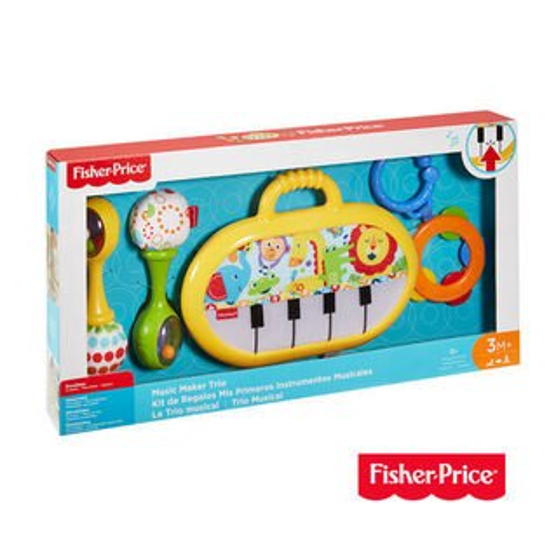 費雪FisherPrice經典小鋼琴禮盒組兒童玩具彌月禮盒516654好娃娃