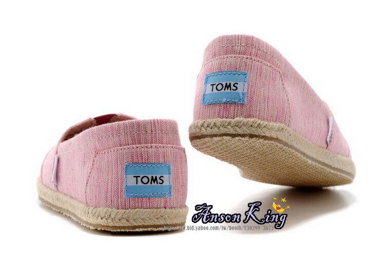 [女款] 國外代購TOMS 帆布鞋/懶人鞋/休閒鞋/至尊鞋 亞麻系列 亞麻底絲紋 粉 3