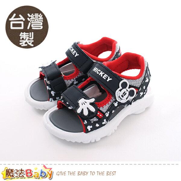 童鞋台灣製迪士尼米奇正版兒童運動涼鞋魔法Baby~sk0441