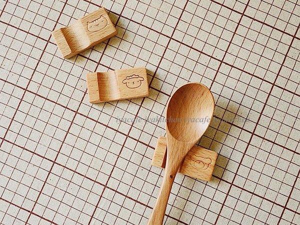 《愛鴨咖啡》櫸木筷枕 筷托 木質筷架 創意餐具