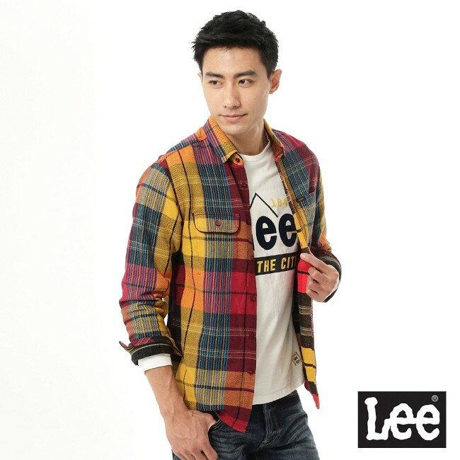 Lee 拼色長袖襯衫 1