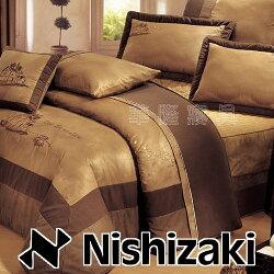 (超值出清!)標準雙人床罩鋪棉被套七件組 【Nishizaki 日本西崎-愛戀假期】60支精梳棉/300支紗觸感舒適親膚透氣 頂級麂皮刺繡質感超好