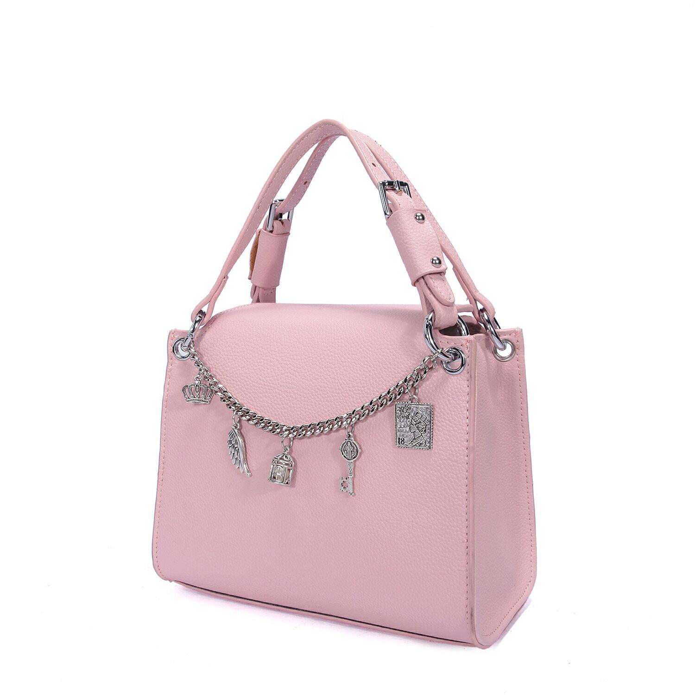 【BEIBAOBAO】東區時尚質感真皮手提包(名媛粉 共二色) 5
