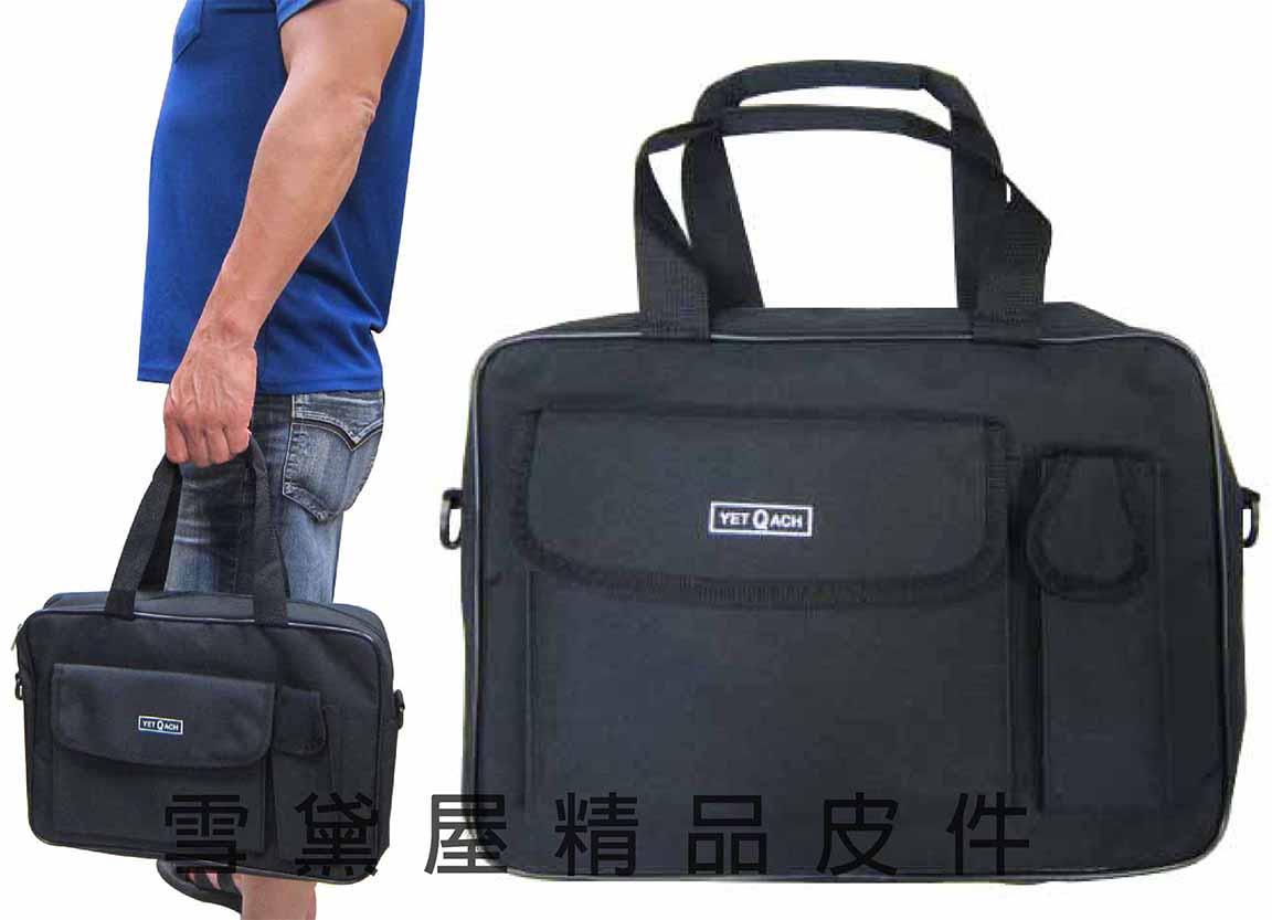 ^~雪黛屋^~YET~ACH 文件包拉鍊主袋MIT簡易 可放A4資料夾可手提肩背斜側背防水