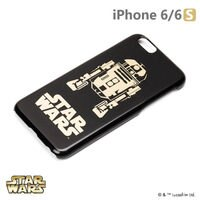 正版 Starwars iPhone 6/6s 星際大戰 金箔硬殼黑暗系列 - R2D2