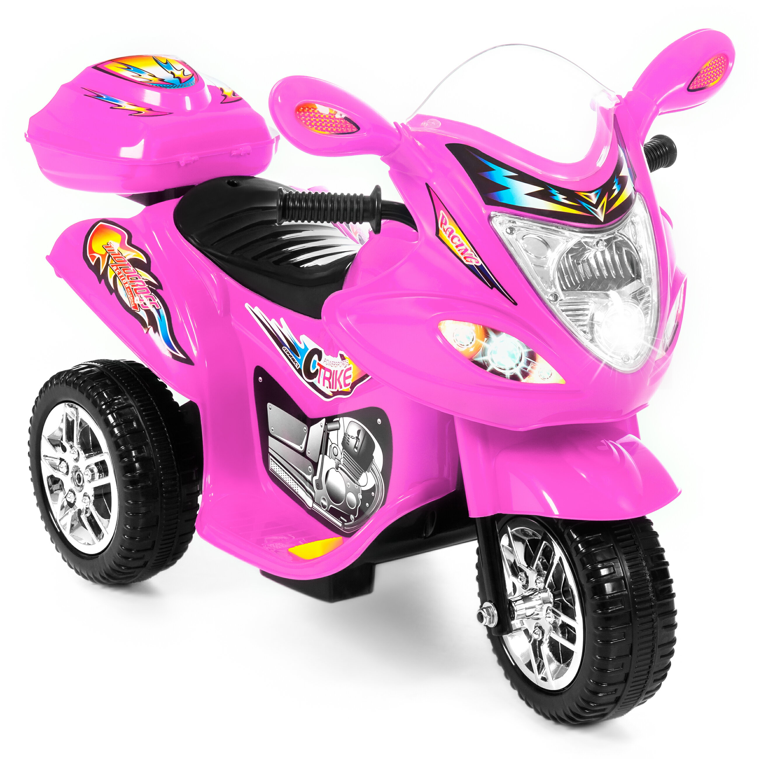 motorcycle toy wheel ride pink battery powered lights