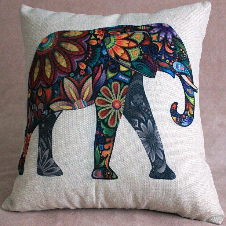 大象 45x45cm 抱枕 靠枕