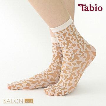 日本靴下屋Tabio除臭幾何圖案絲襪短襪20D