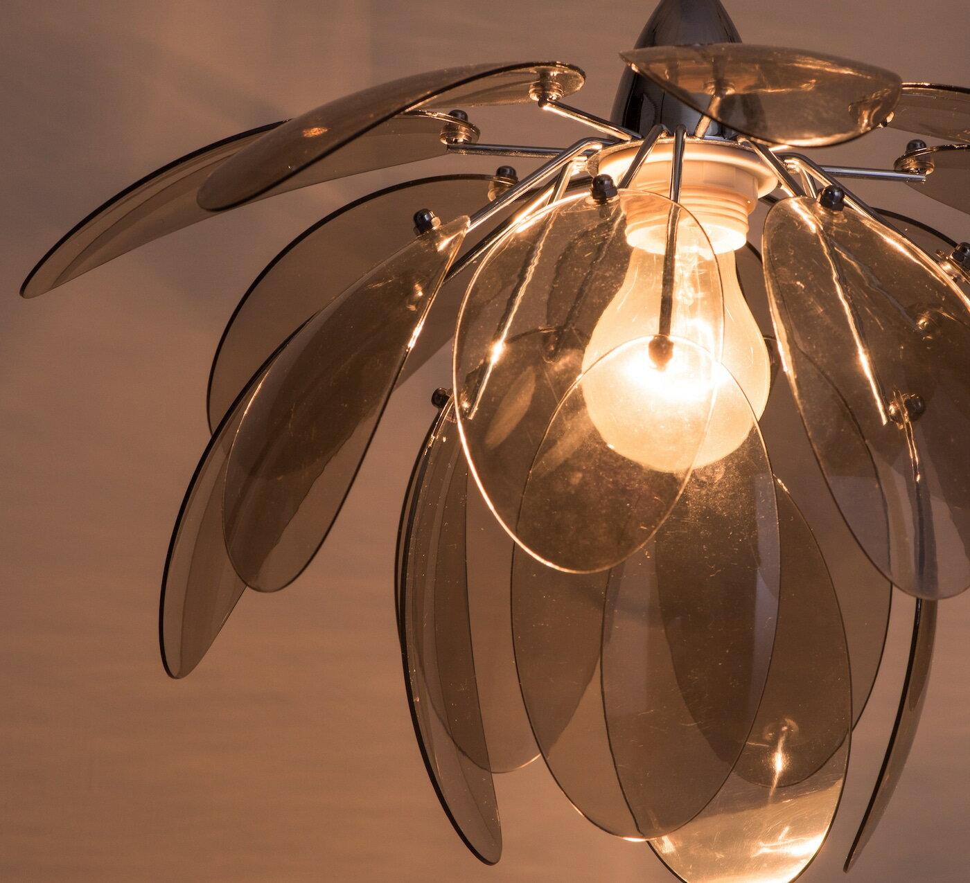 煙灰色壓克力花瓣吊燈-BNL00055 3
