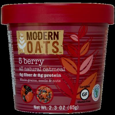 5 Berry Oat Meal Cups 12's Modern Oats 76b339528aac6dd18c8cdf01de8a9069