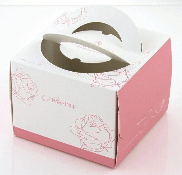 【零售量】4吋手提蛋糕盒/玫瑰系列 /50個