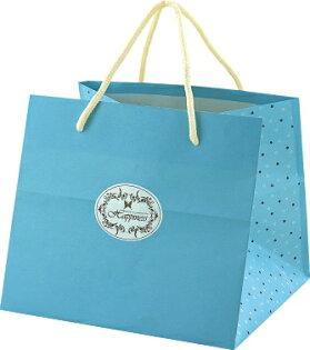 【零售量】手提袋(簡約幸褔6號)水藍色 /50個