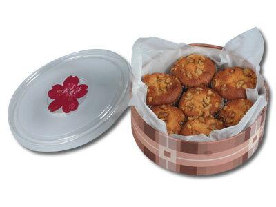 圓盒18CM塑膠透明蓋(附贈棉紙)/一箱120個
