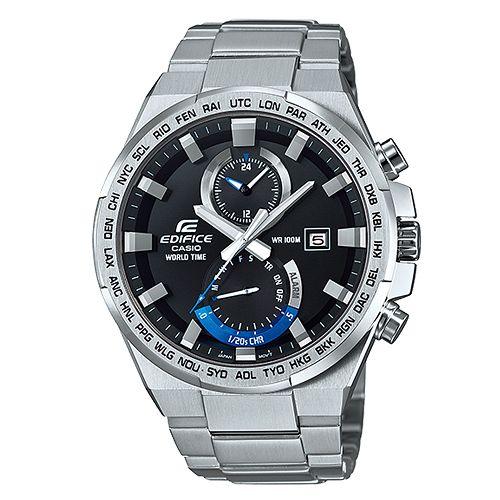 CASIO EDIFICE EFR-542D-1A 簡約堅韌流行腕錶/黑面46.5mm