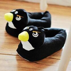 美麗大街【103010618】憤怒鳥系列造型絨布室內拖鞋