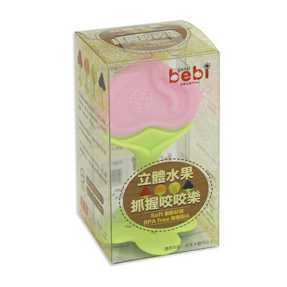 genkibebi元氣寶寶立體水果抓握咬咬樂-桃子