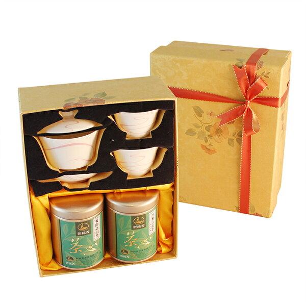 紅(綠)茶煙茶具組+雙罐茶葉禮盒