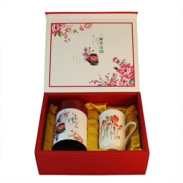 <br/><br/>  阿里山高山茶(超級品)+風清堂同心杯