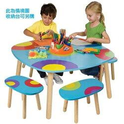 【美國ALEX】712WNS  多功能兒童繪畫遊戲桌(內附4張板凳) /組