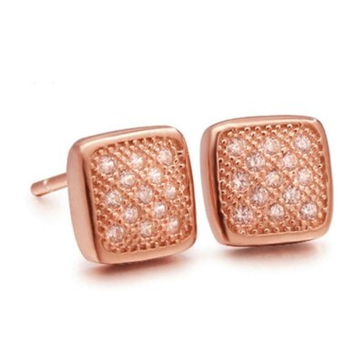 925純銀耳環鑲鑽耳飾~ 奢華典雅 情人節 女飾品2色73dm96~ ~~米蘭 ~