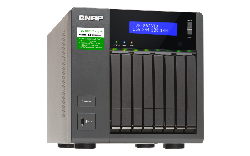 QNAP 威廉通 TVS-882ST3-i7-16G 8Bay NAS 網路儲存伺服器 5