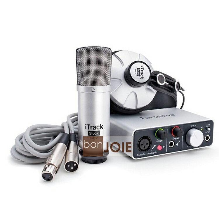 ::bonJOIE:: 美國進口 Focusrite iTrack Studio ( 30-pin 版本) 數位錄音組 (Solo+耳機+麥克風+線材與軟體) 數位錄音套件 Solo