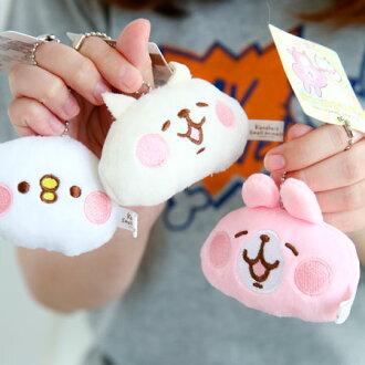 正版卡娜赫拉珠鍊大頭造型娃娃 3吋 吊飾 娃娃 鑰匙圈 兔子 小兔兔 貓咪 P助 小雞 Kanahei【B062108】